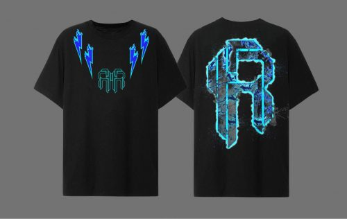 2.Double Logo Baby Blue T-shirt