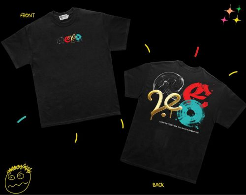 3. Revolution Unique Black T-shirt